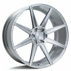 24 Velgen Vft8 Silver 24x10 Forged Concave Wheels Rims Fits Lincoln Navigator
