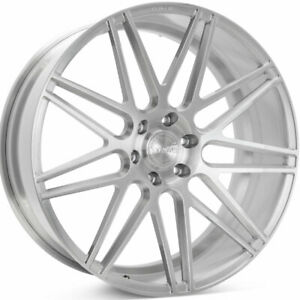 22 Velgen Vft9 Silver 22x10 Forged Concave Wheels Rims Fits Lifted Ford F 150