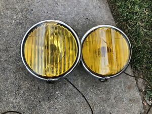 Rare Guide Fog Lights 1939 Chevy Gm Master Deluxe 1937 1938 1940 1941