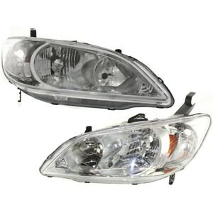 33151s5aa51 33101s5aa51 Ho2503121 Ho2502121 Headlight Lamp Left and right