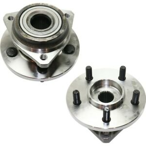 Wheel Hubs Set Of 2 Front Left and right Lh Rh For Jeep Wrangler 53007449 Pair