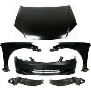 Kit Auto Body Repair Front Coupe Sedan For Honda Civic 2004 2005