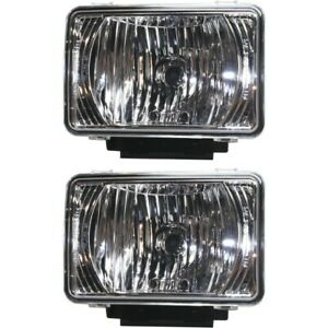 Fog Lights Lamps Set Of 2 Front Left and right For Chevy 22863814 pfm Gmc Pair