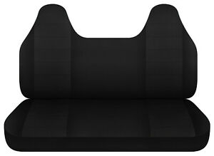 Black Bench Seat Cover W Molded Hr Fits Toyota Tacoma Chevy S10 Ford Ranger