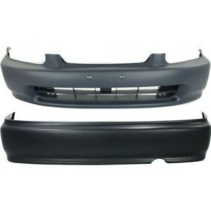 Set Of 2 Bumper Covers Front Rear Ho1000172 04711s01a00zz Coupe Sedan Pair