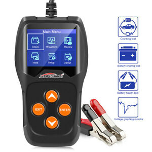 12v Car Battery Load Tester Kw600 Digital Auto Battery Analyzer Up 2000cca