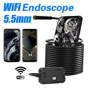 5m 8led Usb Endoscope Wifi Borescope Inspection Camera For Iphone Android D8k1