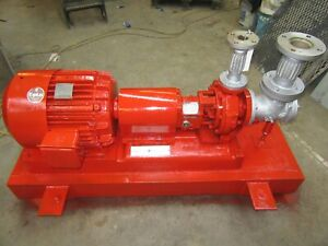 25 Hp Sterling Peerless 1 5 X 3 Centrifugal Water Pump 316ss 225 Gpm 8 Imp