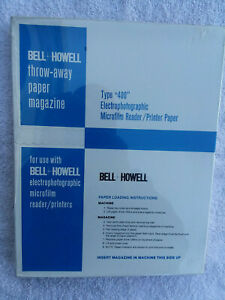 Nos Bell Howell Type 400 Electrophotographic Microfilm Reader Printer Paper