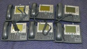 Lot Of 6 Cisco Ip Phone 7960 Series 6 Lines Business Phone