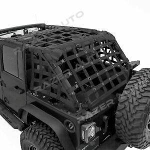 Off Road 4 Door Black Cargo Net System Restraint Net For 07 18 Jeep Jk Wrangler