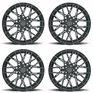 22 Xo Phoenix Grey 22x9 5 22x10 5 Forged Concave Wheels Rims Fits Dodge Charger