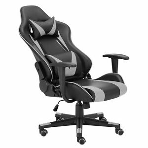 High Back Racing Style Comfortable Chair Swivel Executive Leather Gaming Chair