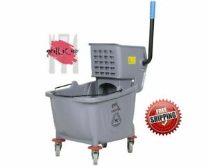 Industrial Lavex Janitorial Grey 36 Quart Mop Bucket Wringer Combo Gray Color