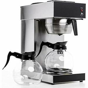 Rug2001 Commercial Grade Pourover Brewer Coffee Maker Machine With Kettle Warmer