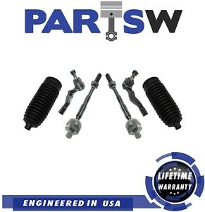 New Inner Outer Tie Rod Kit W steering Boot For 2003 2009 Fits Nissan 350z