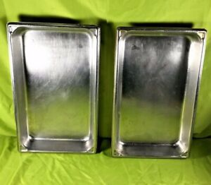 Vollrath Stainless Steel Steam Table Pan 1 2 Size 2 5 Deep No 3002 2 Lot Of 2