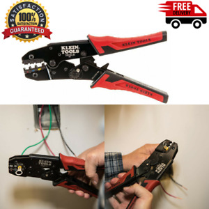 Ratcheting Crimping Tool Klein Tools Insulated Wire Terminals Crimper Consistent