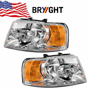 For 2003 2006 Ford Expedition Left And Right Headlight Set 2pc