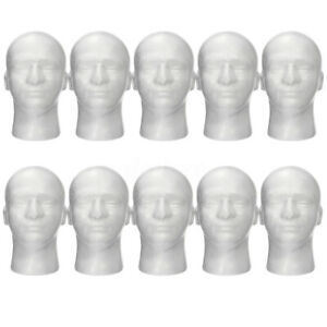 10pcs Female Styrofoam Mannequin Manikin Foam Head Model Hat Wig Display Stand