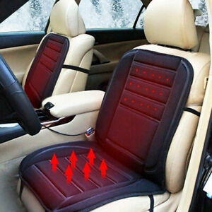 Car Auto Seat Cover Cushion Cooling Warm Heated Black With Switch All Season New
