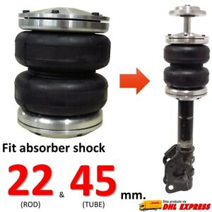 1 Universal Double Air Bag Sleeve Absorber Shock 22 45 Mm Spring ride Suspension