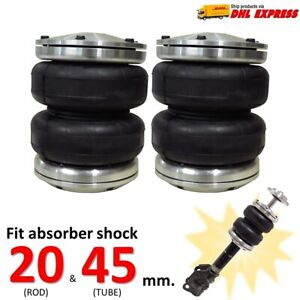 2 Universal Air Bag Sleeve Fit Absorber Shock 20 45 Mm Ride Suspension Lower Car