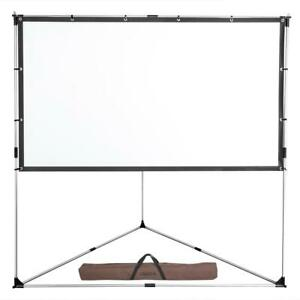 100 Portable Projector Screen 16 9 Triangle Stand Transportable Full Set Bag