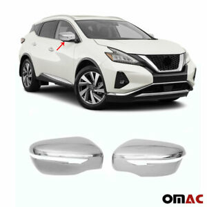 Fits Nissan Murano 2015 2020 Chrome Side Mirror Cover Cap 2 Pcs