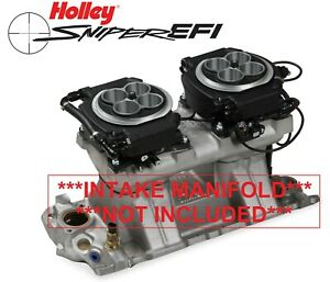 Holley Sniper Efi 550 528 4150 2x4 Dual Quad Fuel Injection Conversion Kit Black