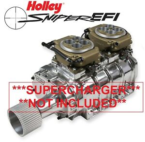 Holley Sniper Efi 550 533 4150 2x4 Dual Fuel Injection Self Tuning 1250hp Gold