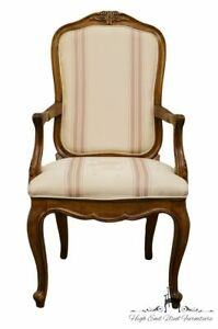 High End Country French Provincial Upholstered Accent Arm Chair
