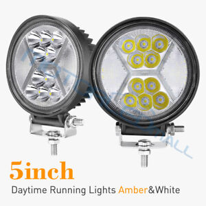 5inch 390w Round Cree Led Work Lights Offroad Suv Truck Atv Drl Driving Fog Lamp