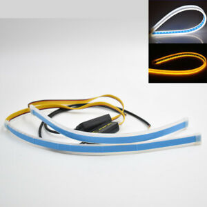 2x 30cm Led Turn Strip Light Daytime Running Sequential Flow Turn Signal Slim