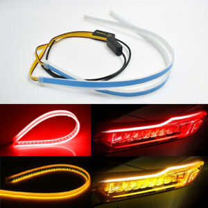 60cm Sequential Led Strip Amber Turn Signal Switchback Red Daytime Running Light