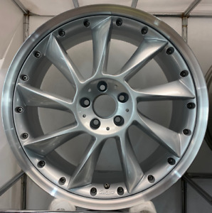Mercedes Lorinser Lm6 9x 20 2pc Silver Front Oem Factory Wheel 014003900
