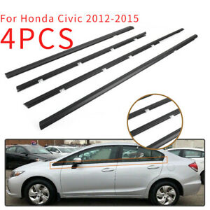 Weatherstrip Outside Window Moulding Trim Seal Belt For Honda Civic 2012 2015