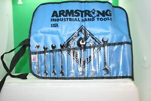 Armstrong 8 Piece Stubby Open End Angle Wrench Set Standard Sae 13 64 3 8