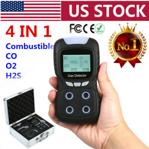 4 In 1 Gas Detector Co O2 H2s Oxygen Lel Harm Gas Monitor Tester Analyzer Meter