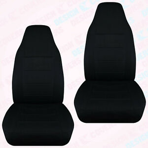 Designcover Front Car Seat Covers Black Fits 2004 2012 Ford Ranger Bucket Seats