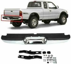 New Chrome Complete Rear Bumper Car Assembly For 1995 2004 Toyota Tacoma Pickup