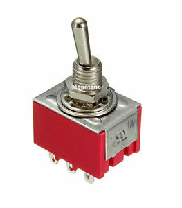 1 Pc 3pdt Mini Toggle Switch On off on Solder Lug High Quality Usa Seller