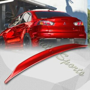 For 2008 2017 Mitsubishi Lancer Evo 10 Painted Red Rear Trunk Duck Lid Spoiler