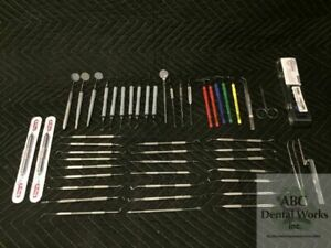 Lot Of Hu Friedy Scalers Instruments Incl Everedge 2 0 Set Over 60 Pieces