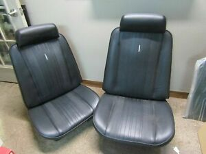 1970 70 Chevelle El Camino New Pair Of Bucket Seat Covers Medallions