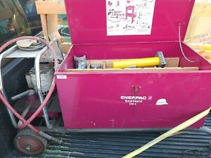 Enerpac Cm4 5 2 Hydraulic Pipe Bender With Eej221 Pump Rc1010 Can Ship