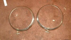 Ford 1934 Headlight Rings Moldings Headlite Good Condition 331