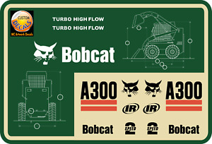 Bobcat A300 Skid Steer Vinyl 15 Decal Set Of Stickers W Uv Laminate Protection