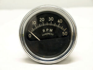 Vintage A C Tachometer Gauge Rpm 0 50 3 3 4 Bezel Made In Usa