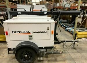 2016 Generac Magnum Mlt3060k Towable Light Tower Generator Diesel Genset